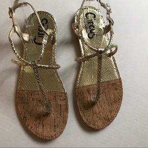 Sam Edelman Gold Colored Sandals Size 8